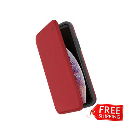 AU49.95 • Buy Speck Presidio Card Strong Tough Folio Rugged Case Iphone X/xs - Red/grey