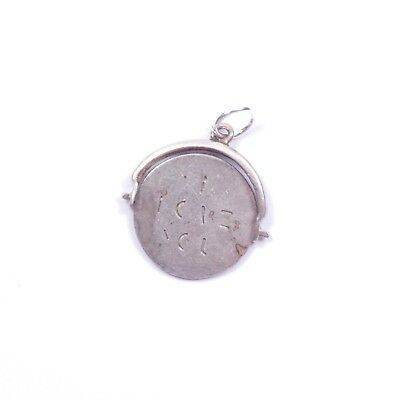 Vintage Charm Spinner I Love You Engraved 925 Sterling Silver 1gram • 19.99£