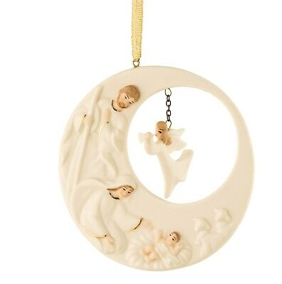 Belleek China Living Christmas Nativity Angel Hanging Ornament. Boxed.New • 21.99£