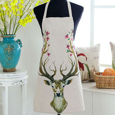 Collect Cute Vintage Styles Label Letter Print Apron For Ladies Cook Tools N7 • 5.64£