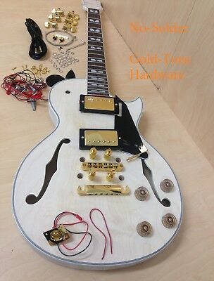 AU179 • Buy 4/4 LP Electric Guitar 239A-DIY W/No-Solder,Semi-Hollow Body,Golden Hardware