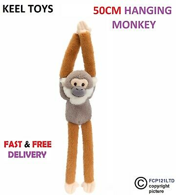 Keel Toys Wild Hanging Monkey 50cm Brown Cappuchin Cuddly Soft Toy Plush SW0084 • 9.35£