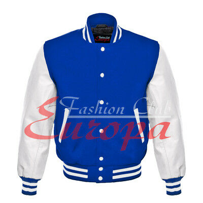 £51.87 • Buy College University Letterman Varsity Wool Jacket With White Real Leather Sleeve