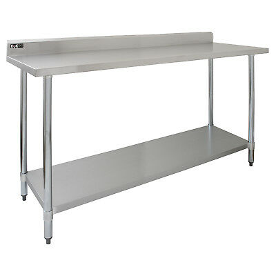 £209.99 • Buy Stainless Steel Premium Catering Table Work Bench Commercial Kitchen Prep Area