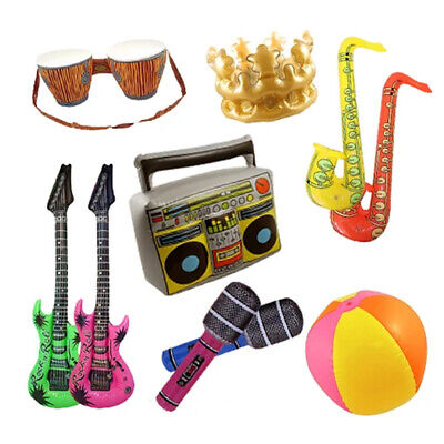 £19.95 • Buy Infatables Pack Of 10 Assortment -Party Decoration Prop Music Neon EUROVISION