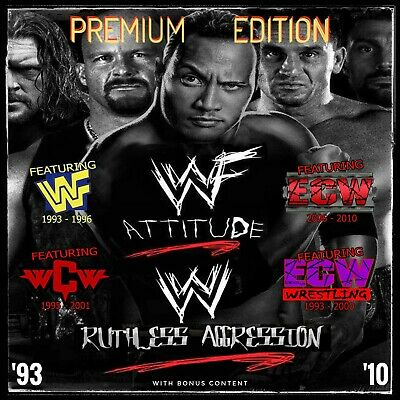 WWF / WWE / WCW / ECW Full Episode Collection (1993-2010) • 28.99£