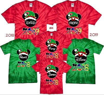 $16.99 • Buy  Christmas Disney Family VACATION 2018 Mickey & Minnie MATCHING T-Shirts TieDye