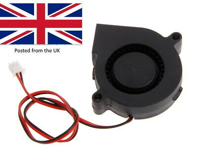 3D Printer 12V DC 50mm Blower Radial Cooling Fan With Short Lead 2 Pin JSt • 3.95£