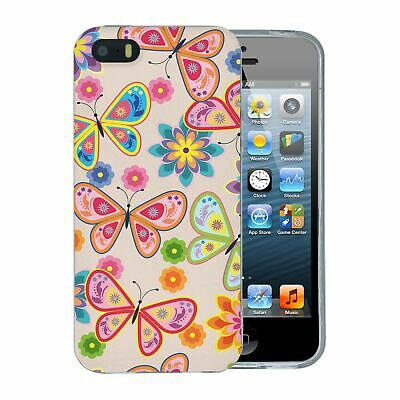 052ebe8a085 Para Apple Iphone 5 5S Se Funda De Silicona Bonito Dibujo Mariposas - S5173  • 7.97