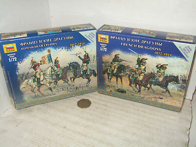 Zvezda 6812 & 6818 French Dragoon Command Group & French Dragoons, In 1:72 Scale • 12.85£