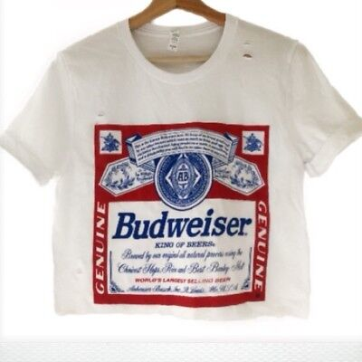 $ CDN18.12 • Buy (Officially Licensed) Budweiser Distressed Crop Top