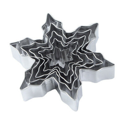 £5.29 • Buy Snowflake Christmas Cookie Cutter Mould Biscuits Fondant Christmas Pastry Baking