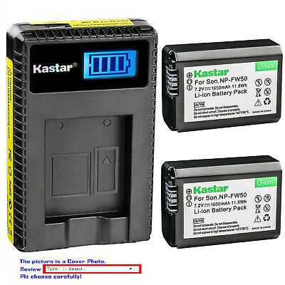 $ CDN35.86 • Buy Kastar Battery LCD USB Charger For Sony NP-FW50 BC-VW1 & ILCE-6000 Alpha A6000