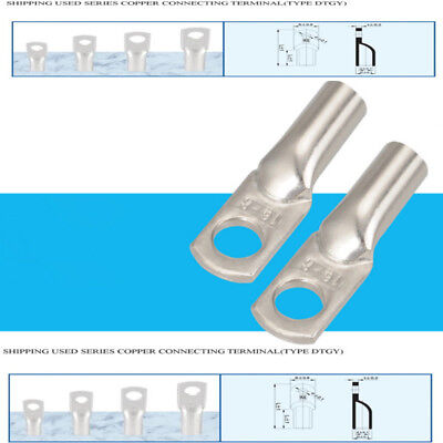 $ CDN11.86 • Buy New Tin Plated Pure Copper Battery Cable End Long Lugs Ring Terminals Connectors