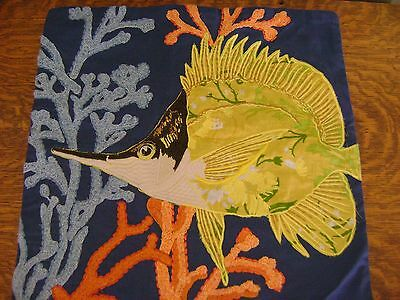 $44.99 • Buy Pottery Barn Angel Fish Embroidered Pillow Cover Nautical ~ SOLD OUT@PB