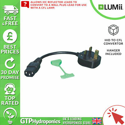 £8.14 • Buy LUMii - HID To CFL Converter Lead - With UK Plug And CFL Support For Reflector