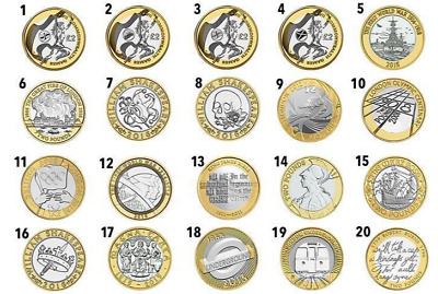 Hard To Find Various Rare £2 Two Pound Coins Circulated All Years In Stock • 5£