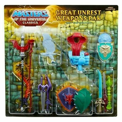 $48.86 • Buy He-Man MOTU Masters Of The Universe Classics Great Unrest Weapons Pak New In Box