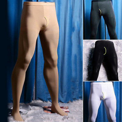 $11.11 • Buy Mens Winter Warm Thermal Pantyhose Stretch Tights Footed Long Johns Skinny Pants