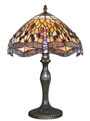 £58.49 • Buy Dragonfly Tiffany Style Handmade Glass Table / Bedside Lamps - Christmas Gift