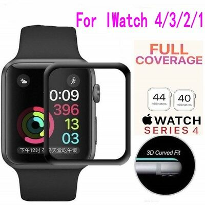 $ CDN3.49 • Buy Apple Watch Series 4/3/2/1 Tempered Glass Screen Protector Full Edge 40mm /44mm