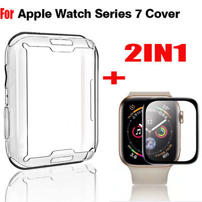 $ CDN1.98 • Buy 2IN1 F Apple Watch Series 4 Full Cover Screen Protector+Silicone Case 40/44mm MC
