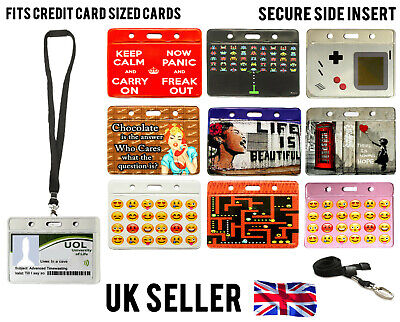 Fun Id Badge Card Holder / Lanyard Neck Strap Work Oyster Visitor Student Pass  • 1.69£