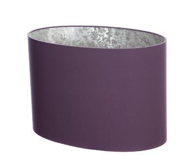£25.30 • Buy Handmade Mauve Purple Oval Lampshade With Silver Lining