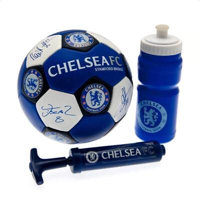 Chelsea Fc Nuskin Football Size 3 With Water Bottle & Pump New Xmas Gift • 18.87£