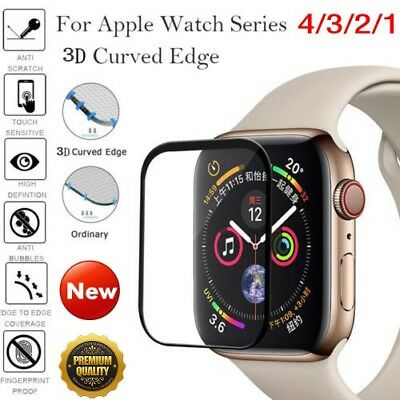 $ CDN2.59 • Buy For Apple Watch Series 4/3/2/1 Tempered Glass 3D Full Screen Protector 38/40/44