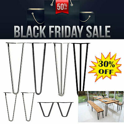 4 X Hairpin Metal Table Coffee Cabinet Bench Legs, 4  - 28 , Steel Retro Style • 25.20£