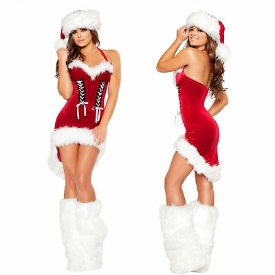 Sexy Santa Womens Ladies Miss Claus Fancy Dress Costume Christmas Party Outfit  • 14.99£