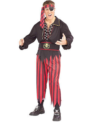 $9.99 • Buy Adult Mens Pirate Ship Crew Matie Captain Costume With Deluxe Lace-Up Shirt