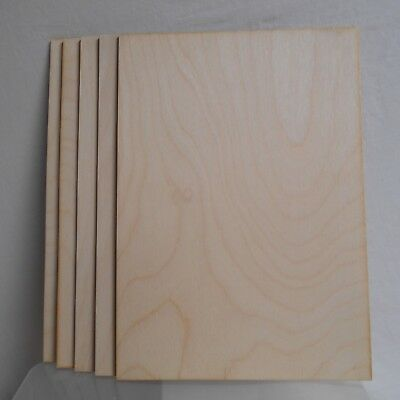£8.99 • Buy 5 X Birch Plywood Sheets 3mm Thick, A4 Size, For Pyrography, Crafts,modelling.