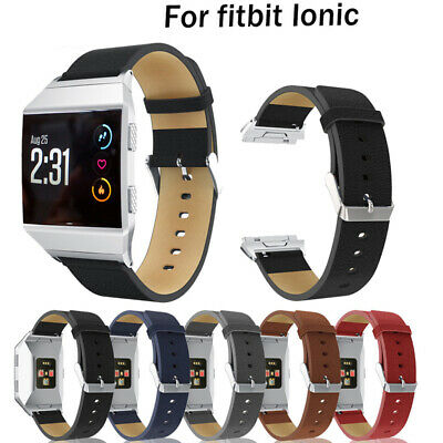 $ CDN10.53 • Buy For Fitbit Ionic Watch Band Strap Genuine Leather Bracelet Replacement Bracelet