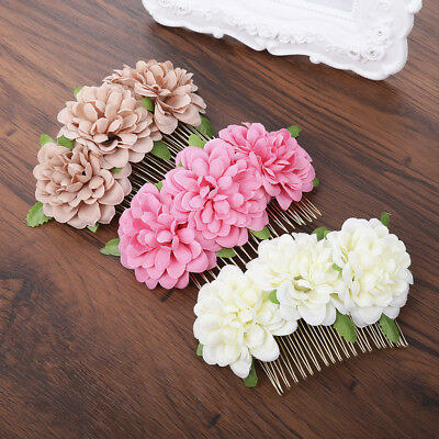 $ CDN3.69 • Buy Fashion Ladies Bridal Wedding Flower Hair Comb Pin Combs Party Hair Accessories