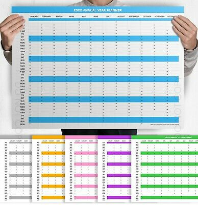 A3 / A2 / A4 Wall Planner 2020 Unmounted Poster Print Year Plan UK Fast FREE PNP • 2.99£