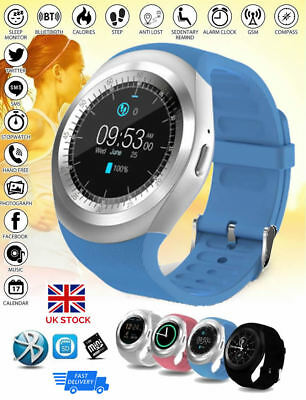NEW Y1 Sport Smart Watch Sim Phone Bluetooth Apple & Android Compatible UK Stock • 18.67£