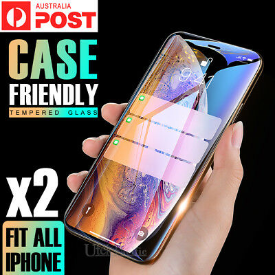 AU5.95 • Buy 2X Apple IPhone X XR XS MAX 8 7 6 Plus 6S 5 Tempered Glass Screen Protector