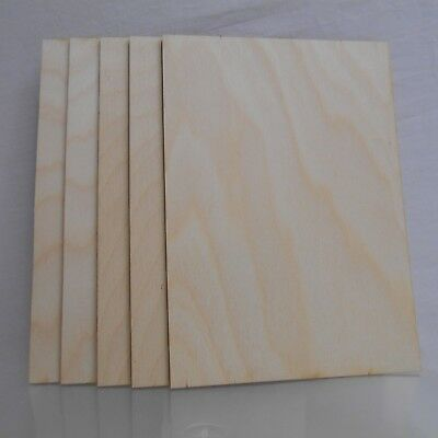 £6.99 • Buy 6 X Birch Plywood Sheets 3mm Thick, A5 Size, For Pyrography, Crafts,modelling.