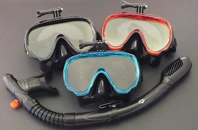 AU39.95 • Buy GoPro Mask And Dry Snorkel - Snorkeling Diving Liquid Silicone Set WIL-DS-32