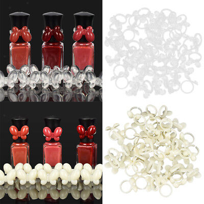 100 UV Gel Color Pops Display Nail Art Ring For Polish Color Chart Butterfly • 5.22£