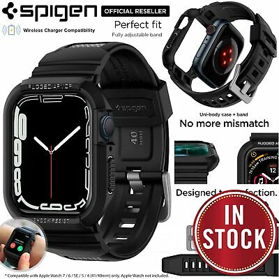 AU39.99 • Buy SPIGEN Rugged Armor Pro Cover Band For Apple Watch Series 6 SE 5 4 40/44mm Case