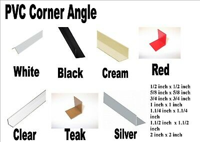 £2.98 • Buy PVC Corner Angle 90 Degrees Trim 8 Colours 8 Inches - 36 Inches 8 Sizes