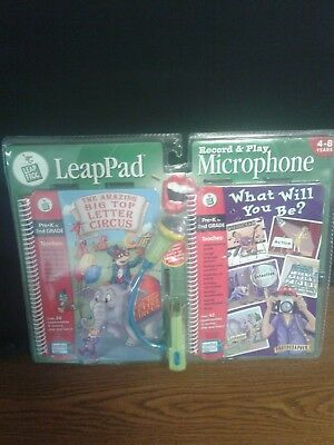 £13.65 • Buy Leap Frog LeapPad Record & Play Microphone 2 Books Pre-K - 2nd Quantum Pad Toy