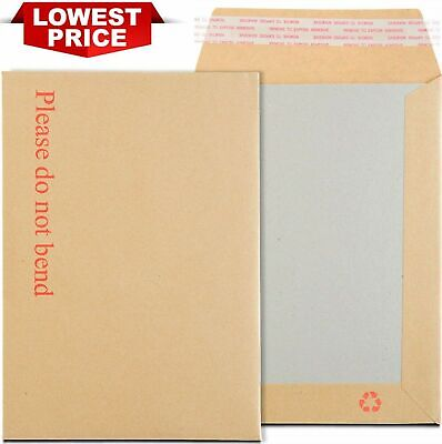 £0.99 • Buy Hard Card Board Back Backed Envelopes  Please Do Not Bend  Manilla Brown Rigid