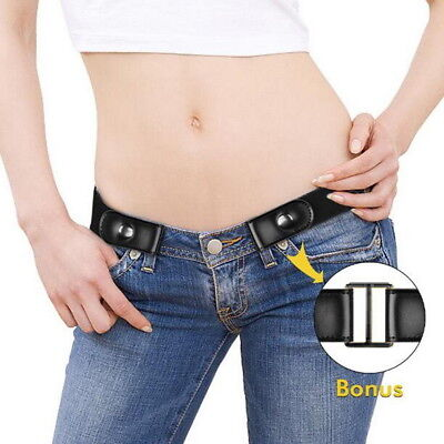 $6.04 • Buy Buckle-free Elastic Invisible Belt For Jeans No Bulge No Hassle Genuine Leather