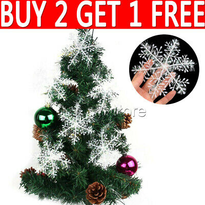 30pcs White Window Snowflakes Hanging Christmas Tree Snow Party Home Decoration • 2.95£
