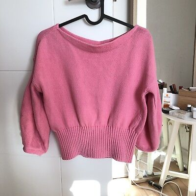 $ CDN30 • Buy Anthropologie Crop Knitted Sweater XS Pink