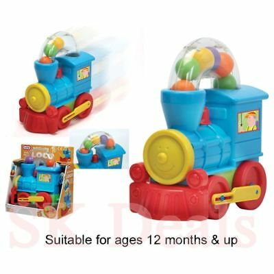 FunTime Push Along Ball Blowing Loco Train Toddler & Baby Toy -gift • 8.89£